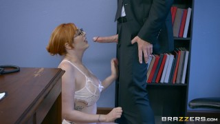 Naughty Ginger Bimbo Gets Pounded At Work – Brazzers