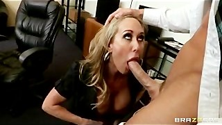 Horny Big-tit Blonde MILF Fucks Employee's Big-dick In The Office