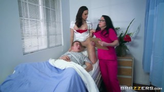 Nurses Chanel And Veruca Share Big Dick – Brazzers