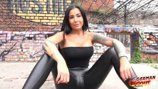 GERMAN SCOUT – TATTOO MODEL SNOWWHITE TALK TO FUCK AT REAL STREET CASTING