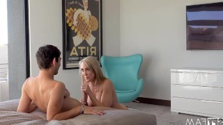 HOT MOM JERKS OFF STEP SON