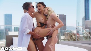 VIXEN Kenna & Her BF Have Naughty Threesome With Eliza