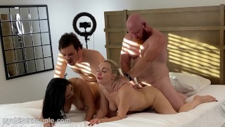 Crazy Foursome With Kate Join, Thor Johnson, Song Lee And Ben From NYCBISEXCOUPLE!