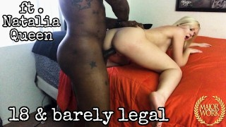 TRAILER // PETITE 18 YEAR OLD NATALIA QUEEN DESTROYED BY BBC ROME MAJOR