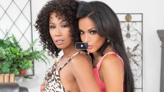 Lesbian Lovers Layla Sin And Misty Stone Munch On Each Other's Dark Muffs
