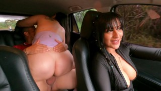 My Friend Challenges Me To Fuck With The Uber Driver I Receive All His Cum In My Pussy Kathalina7777
