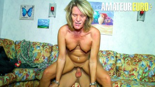 XXXOmas – Slutty German Granny Gets Her Pierced Pussy Fucked By Young Stud – AMATEUREURO